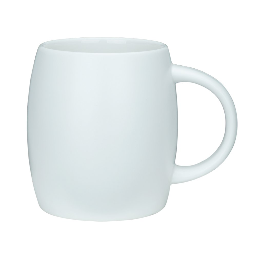 15 Ounce Ceramic Coffee Mugs Simple Pure Large milk Mug Porcelain Cup for Restaurant Office Home, White, 1 Pack