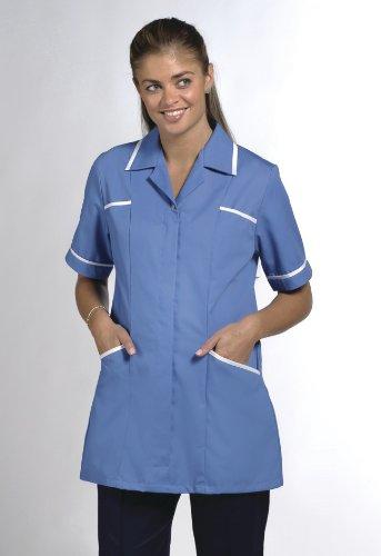 Nueva Greenbergs Healthcare túnicas Eau de mujer médico Wear para mujer Healthcare Top Azul