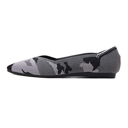 cómodos FLYRCX el Fondo Boca los de Zapatos la la C de La Ballet de otoño Trabajo Trabajo y Zapatos de Zapatos Primavera de Manera Antideslizantes señaló Baja Planos Suaves rtr1g