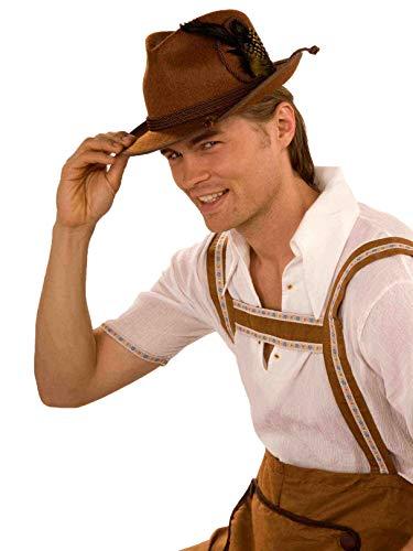 Forum Novelties 65767 Deluxe Oktoberfest Hat, Brown, One Size]()