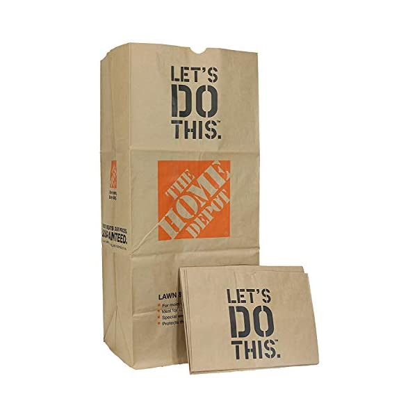 49022-10PK Heavy Duty Brown Paper Lawn and Refuse Bags for Home and Garden, 30 gal...