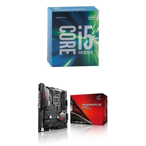 Intel Core i5 6600K 3.50 GHz Quad Core Skylake Processor, Socket LGA 1151, 6MB Cache & ASUS LGA1151 DDR4 DP HDMI M.2 USB 3.1 ATX Motherboard ROG MAXIMUS IX HERO Bundle