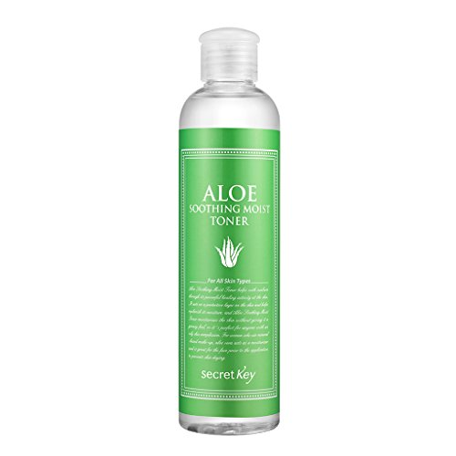 [SECRET KEY] Aloe Soothing Moist Toner 8.39 fl.oz. (248ml) - Hypoallergenic Moisturizing and Soothing Toner for Sensitive Skin, Hydrating Post-Cleanse Boost, Delivers Skin Refresh