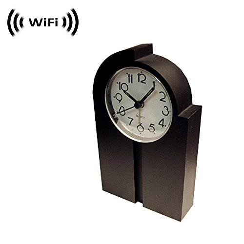 Spy Camera with WiFi Digital IP Signal, Recording & Remote Internet Access, Camera Hidden in a Design Clock