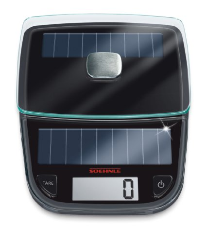 Soehnle Easy Solar Kitchen Scale, Black