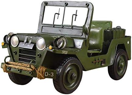 NOBRAND Modelo de vehículo Militar de Hierro Retro colección de Abanico Militar decoración artesanía Creativa para el hogar Regalo de cumpleaños