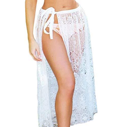 Out Hollow Femmes Blanc Lace Sexy lastique Jupe Courte ESAILQ Jupe fxCwt4qf