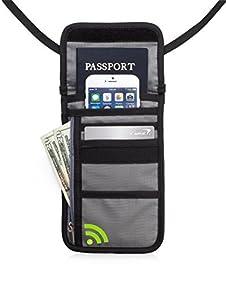 TravelGenixx Neck Wallet w/RFID Blocking-Hidden Travel Pouch & Passport Holder
