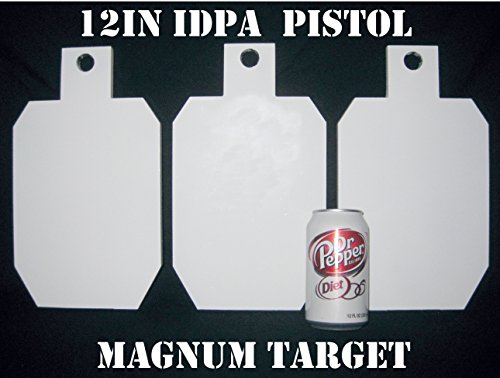 12in.Tall IDPA/ISPC Pistol Targets - 3/8in. Steel Targets - 3pc. Metal Plate Set ()