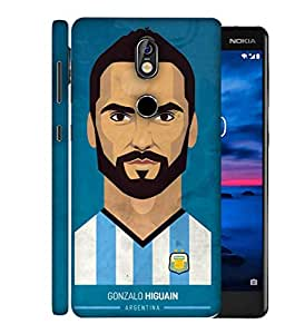 ColorKing Football Higuain Argentina 02 Blue shell case cover for Nokia 7