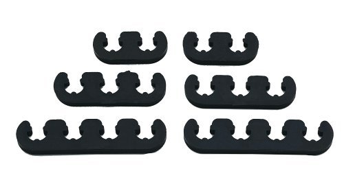 Competition Wire Separator Kit (Mr. Gasket 9728 Competition Wire Separator Kit - Black by Mr. Gasket)