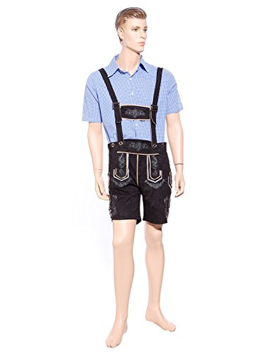 Fashoutlet Mens Deluxe Oktoberfest German Beer Man Lederhosen T-Shirt Fancy Dress