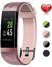 Color Screen Fitness Tracker, Lintelek Activity tracker, IP68 Waterproof, Heart Rate Monitor, Calorie Counter, Slim Pedometer for Kids Women Men
