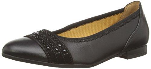 Gabor Mauritius - Bailarinas para mujer Black Leather