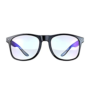 Blue Light Blocking Glasses - Gamer Glasses, LCD/LED Screen and Computer Eyewear Anti-Reflective for Deep Sleep and Helps Prevent Eye Strain & Headaches