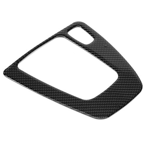 KIMISS Carbon Fiber Gear Shift Panel Decorative Trim for BMW E90 E92 E93 2005-2012 Right Hand Driver