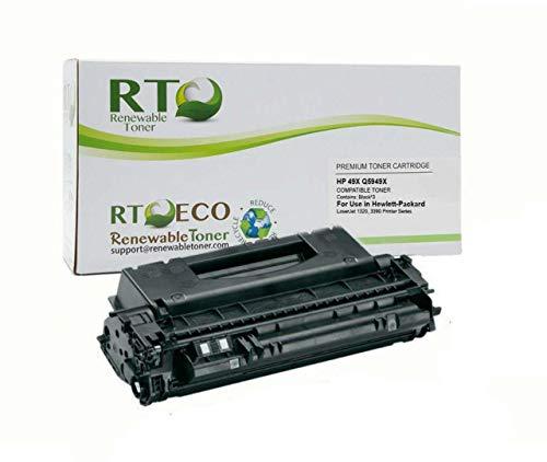 Price comparison product image Renewable Toner Compatible High Yield Toner Cartridge Replacement HP 49X Q5949X for LaserJet 1320 3390 3392
