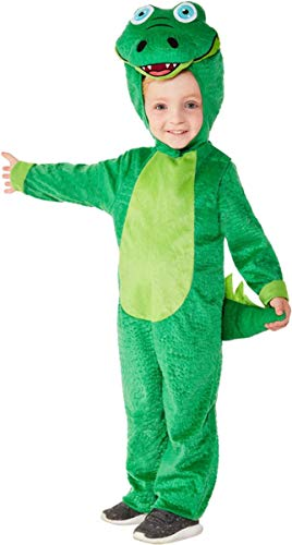 Smiffys Toddler Crocodile Costume Green Toddler Age 3-4 (Halloween Costumes For 1 Year Old Boy Uk)