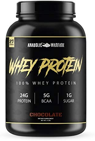Whey Protein Powder by Anabolic Warfare Low Sugar Protein with BCAA for Building Muscle and Muscle Recovery and Low Carb to Help with Weight Loss.* Chocolate Protein Powder – 2 lbs.