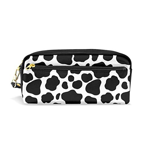 Multifunction Durable Cosmetic Bag Animal Cow Pattern Cowhide Pencil Bag Pouch Bag Case Makeup Bag ()