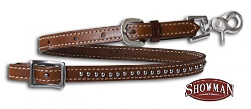 (Showman Studded Leather Wither Strap With Scissor Snap Ends Horse Tack)