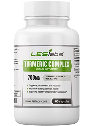 LES Labs Turmeric Curcumin, Non-GMO Supplement with BioPerine & 95% Curcuminoids Extract, 700mg, 60 Capsules by LES Labs
