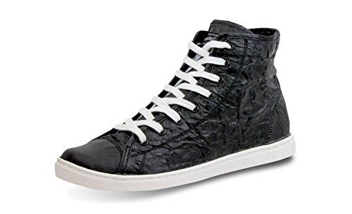 Unstitched Utilities Mens Next Day Mid Designer Tyvek Fashion High-Top Black/White 9ZkPg
