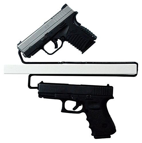 BOOMSTICK Gun Accessories Universal Gun Over/Under Shelf Pistol Hangers, Set of 2