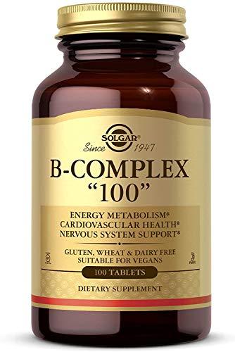 """Solgar – B-Complex """"100"""" Tablets 100 Count"""
