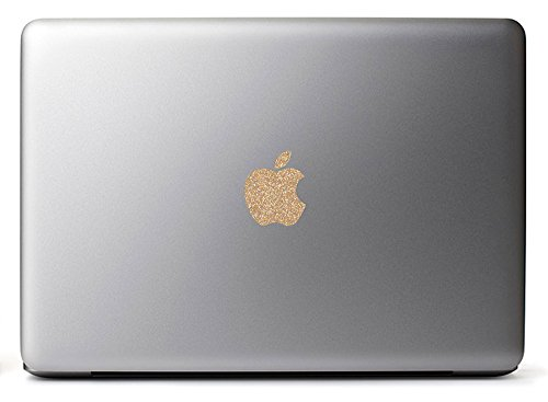 Sparkling Gold Apple Decal Sticker for the MacBook Pro 2011-2014, MacBook Air
