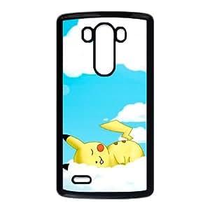 Pokemon Pikachu Nubes Dibujos Funda LG G3 Funda caja del teléfono celular Negro X2W5LE7S Funda caja del teléfono celular para los muchachos