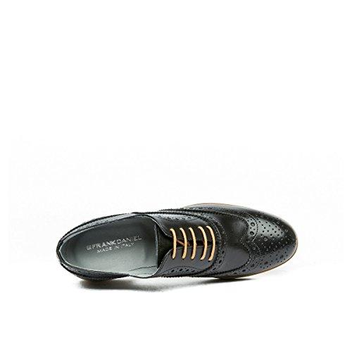 À Lacets Chaussures Pour Noir Frank Daniel Ville Oxford De Femme wgtq5aAWnx