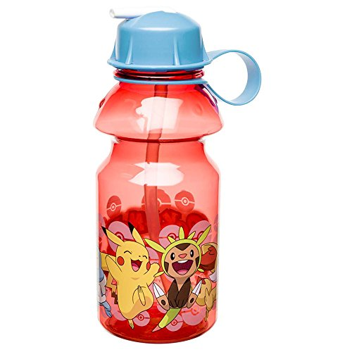 Zak Designs POKC-K870-B Pokemon Water Bottles 14 oz. Pikachu & Chespin]()