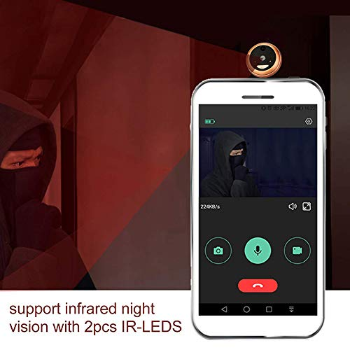 Wireless Digital Door Viewer & Video Doorbell WiFi Peephole Camera Night Vision Motion Detection Security Monitor 120° Wide Angle Lens Viewing for Front Door by Fxwj (Image #4)
