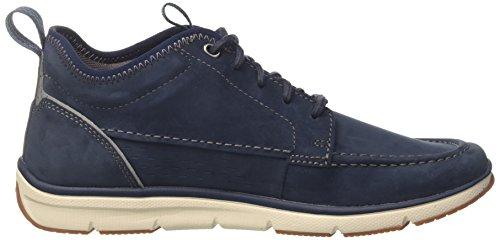 Clarks Herren Orson Mid Sneaker Blau (Navy Nubuck)