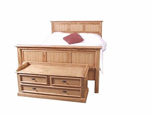 - Forest Designs Mission Panel Bed & Cedar Chest Queen Unfinished Alder
