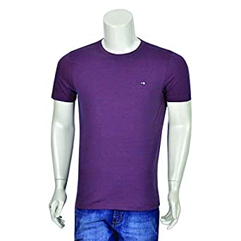 NEXGEN CLUB Purple Round Neck T-Shirt For Men