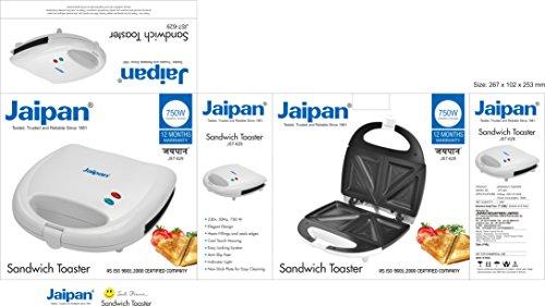 Jaipan JST-629 Equity 750-Watt 4-Slice Sandwich Maker (White)