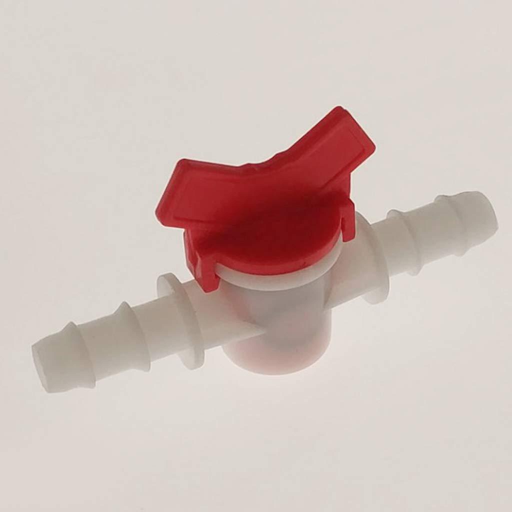 B Blesiya 4pcs Vannes D/ébit dEau Valve Pompe /à Eau 10mm Plastique