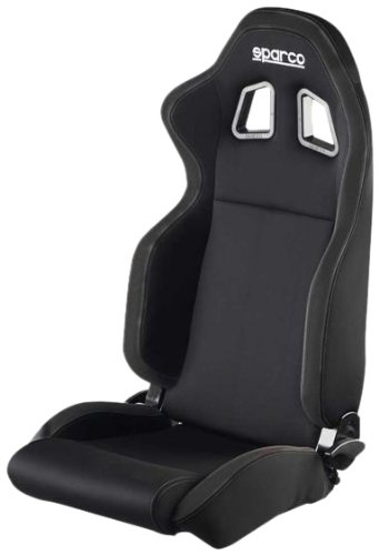 Sparco R100 Black/Black Seat (Sparco Point Harness 3)