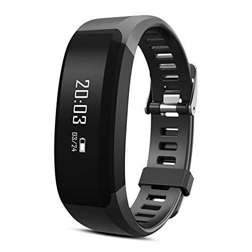 NLSD Smart Bracelet Fitness Tracker Watch, Heart Rate Monitor, Pedometer, Sleep Monitor, Tracking Calories burned, Bluetooth Bracelet For iOS & Android Phones(H2 Black)