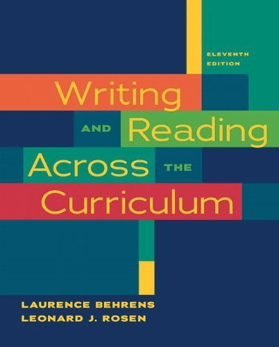 Writing and Reading Across the Curriculum, Brief Edition, 5th Edition