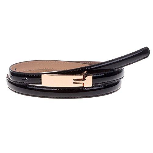 (Adjustable Angel Belt Women's Plaque Buckle Solid Color Skinny Waist Belt Solid Color)