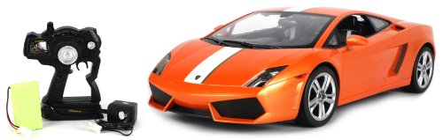 Licensed Lamborghini Gallardo LP550-2 Electric RC Car Big Size 1:10 Scale Ready To Run RTR w/ Working Head and Tail Lights (Colors May Vary)