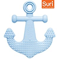 Mayapple Baby - Suri™ the Octopus and Friends Teether - 1 Silicone Teething Toys - Light Blue Anchor Single - Award-winning, Patented