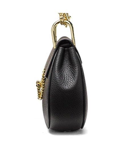 Bandoulière Sac Bag Lock Sac Femmes D'anniversaire Chaîne Sac Saddle Sac En Messenger Bag Cadeau blue Cuir 1YAAqa8
