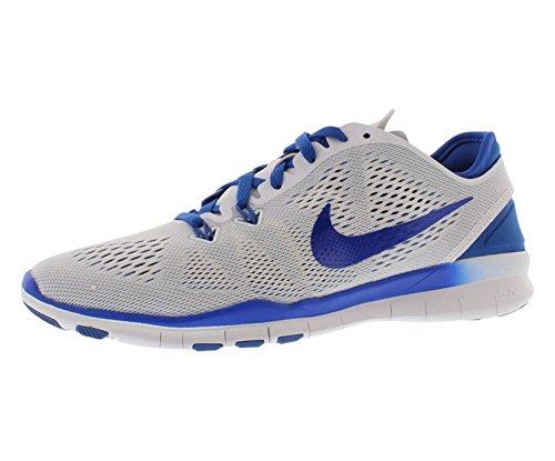 Nike Women's Free 5.0 Tr Fit 5 Prt Training Shoe Women US, White/Game Royal, 42.5 M EU/8 M UK