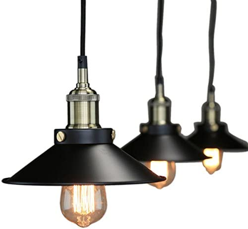 Pendant Lighting Industrial Vintage Hanging Light Ceiling Mount Fixture Black Lights