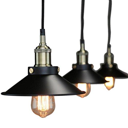 Pendant Lighting Industrial Vintage Hanging Light Ceiling Mount Fixture Black Lights