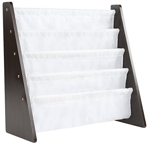 Rack Storage Bookshelf, Espresso/White (Espresso Collection) ()